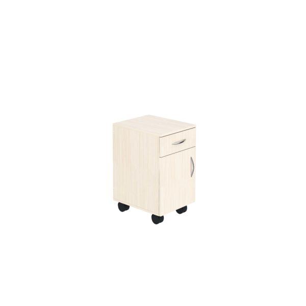 Тумба подкатная с ящиком и дверью