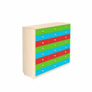 Комод для детского сада на 24 ящика
