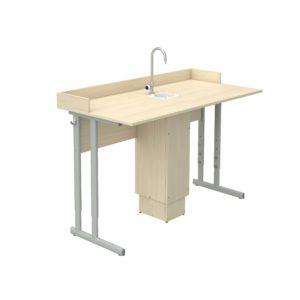 Стол ученический регулируемый для кабинета химии с бортиком р.гр.№4-6