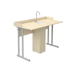 Стол ученический лабораторный для кабинета химии с бортиком р.гр.№6